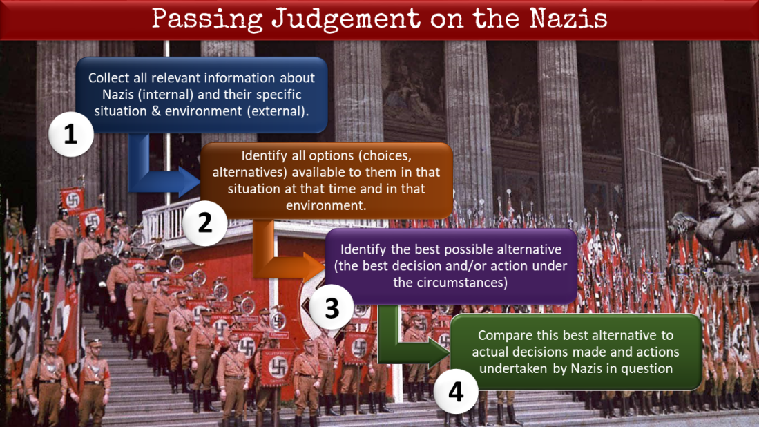 passing judgement on the nazis