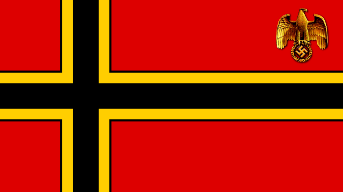 Nordic Cross - Based Nazi Flag
