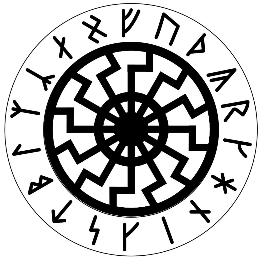 Black Sun and Armanen Runes